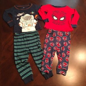 Other - 12 month boy pajamas -Spiderman and space